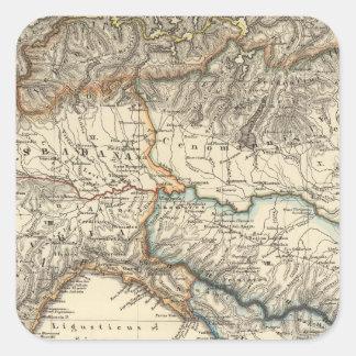 Italiae regiones IIIIXI Square Sticker