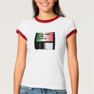 Italian 80s Child Womens Ringer T-Shirt