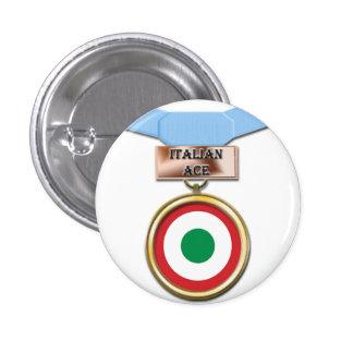 Italian Ace medal button
