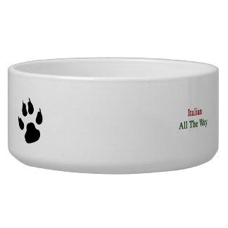 Italian All The Way Dog Bowl