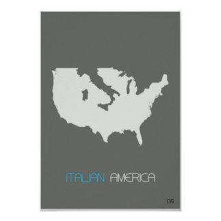 Italian America 3.5x5 Paper Invitation Card