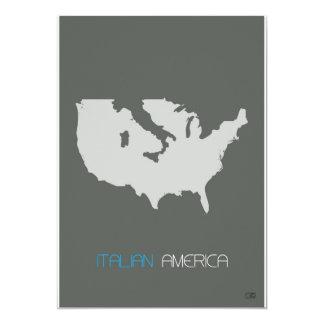 Italian America 5x7 Paper Invitation Card