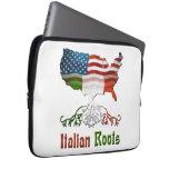 Italian American Ancestry Laptop Bag Laptop Sleeve