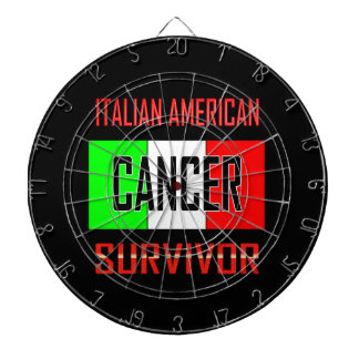 Italian American Cancer Survivor Dartboards