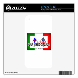 Italian American Christian Flags Decal For The iPhone 4S