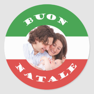 Italian-American Christmas Photo Sticker