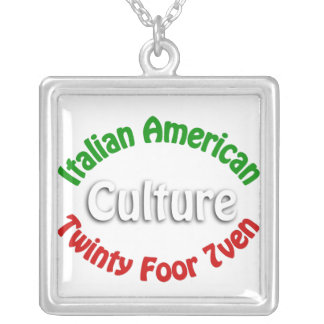 Italian American Culture Personalized Necklace