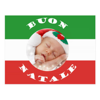 Italian-American Custom Photo Christmas Post Card