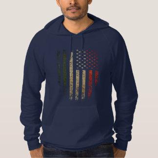 Italian American Flag Grunge Hoodie