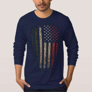 Italian American Flag Grunge T-Shirt