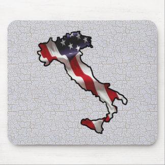 Italian American Flag Mousepad