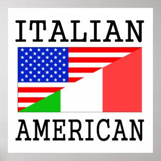 Italian American Flag Poster