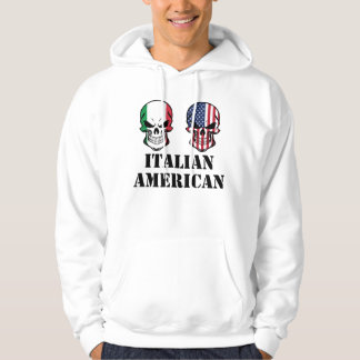 Italian American Flag Skulls Hoodie