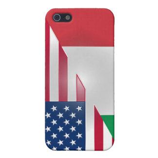 Italian American Flag Sticky Apple iPad Case
