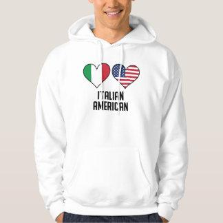 Italian American Heart Flags Hoodie