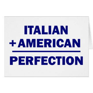 Italian American heritage Card