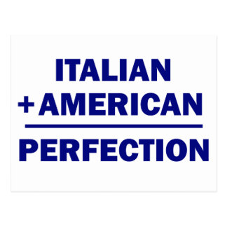 Italian American heritage Postcard
