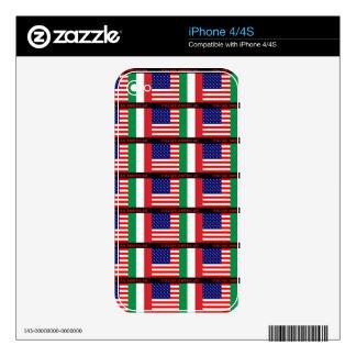 """ITALIAN/AMERICAN"" I PAD CASE SKIN IT iPhone 4S SKIN"