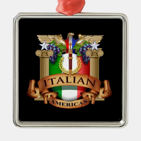 Italian American Metal Ornament