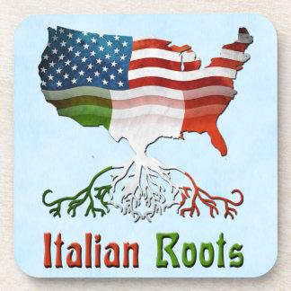 Italian American Roots Cork Coaster Set