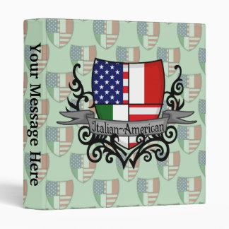 Italian-American Shield Flag 3 Ring Binder