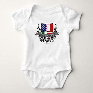 Italian-American Shield Flag Baby Bodysuit