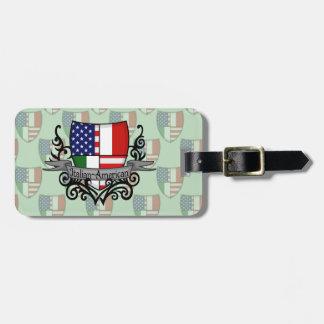 Italian-American Shield Flag Bag Tag
