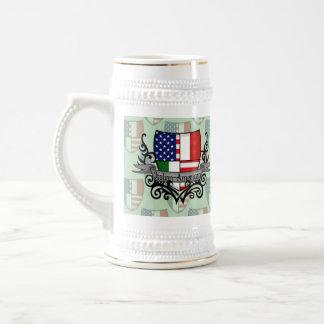 Italian-American Shield Flag Beer Stein