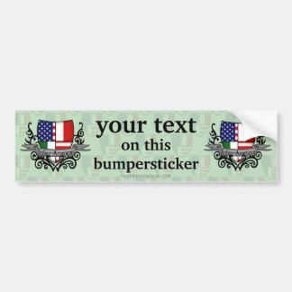 Italian-American Shield Flag Bumper Stickers