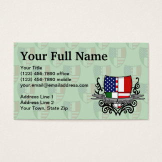 Italian-American Shield Flag Business Card