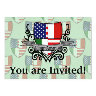 Italian-American Shield Flag Card