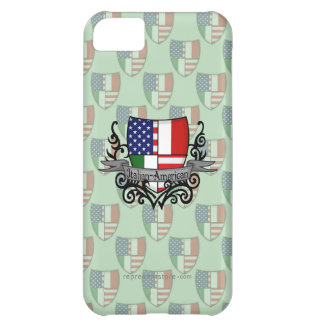Italian-American Shield Flag Cover For iPhone 5C
