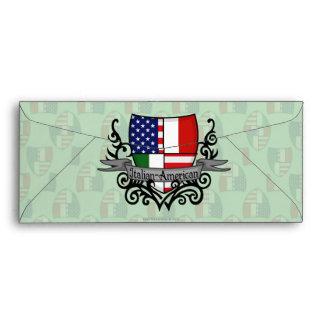 Italian-American Shield Flag Envelopes