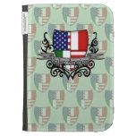 Italian-American Shield Flag Kindle Folio Cases