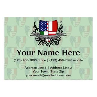 Italian-American Shield Flag Large Business Card