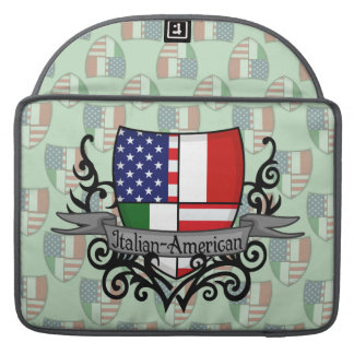 Italian-American Shield Flag Sleeve For MacBooks