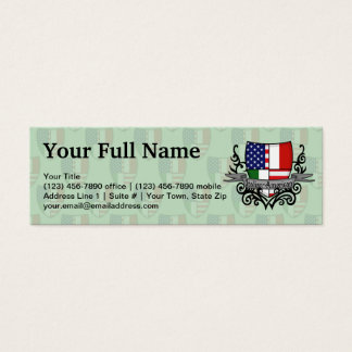 Italian-American Shield Flag Mini Business Card