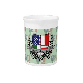Italian-American Shield Flag Drink Pitchers