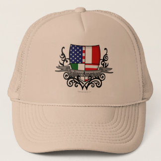 Italian-American Shield Flag Trucker Hat