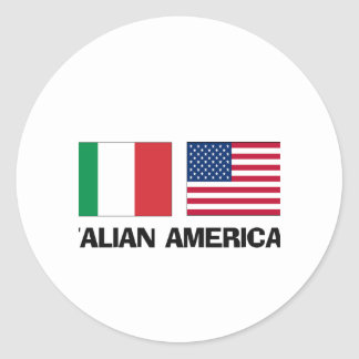 Italian American Round Stickers