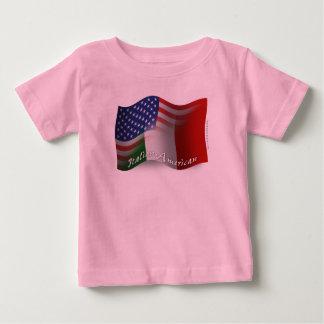 Italian-American Waving Flag Baby T-Shirt