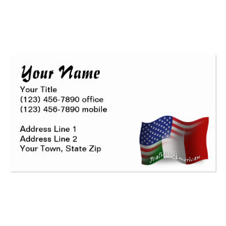 Italian-American Waving Flag Business Card