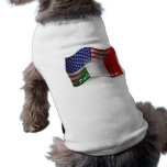 Italian-American Waving Flag Dog T Shirt