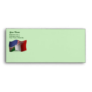 Italian-American Waving Flag Envelope