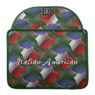 Italian-American Waving Flag Sleeve For MacBook Pro