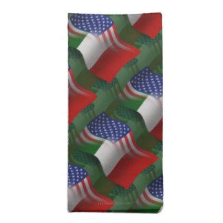 Italian-American Waving Flag Cloth Napkin