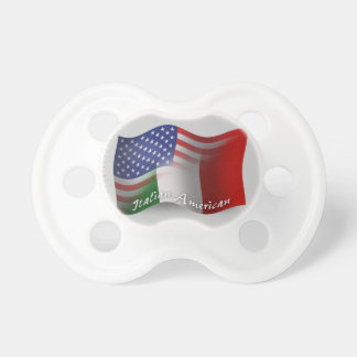 Italian-American Waving Flag Pacifier