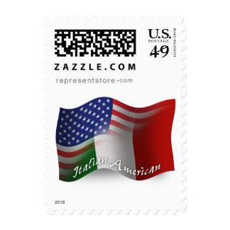 Italian-American Waving Flag Stamp