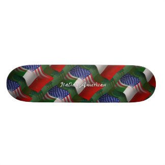 Italian-American Waving Flag Skate Board Deck