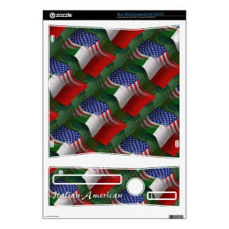 Italian-American Waving Flag Decal For The Xbox 360 S